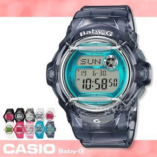 【CASIO卡西歐BABY-G系列】新品上市 夏日繽紛透明錶款 電子女錶(BG-169R)