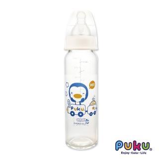 【PUKU藍色企鵝】實感標準耐熱玻璃奶瓶-240ml