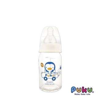 【PUKU藍色企鵝】實感標準耐熱玻璃奶瓶-120ml