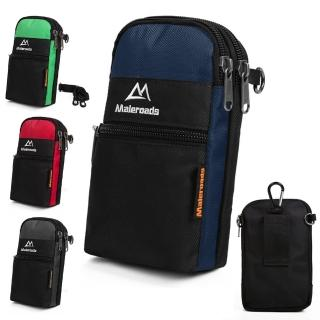 【Maleroads】多功能簡約設計 運動腰包 單斜肩包(適用6吋手機 鑰匙 隨身物品收納 防潑水)