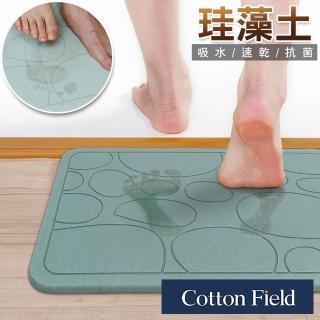 【棉花田】日本超人氣珪藻土吸水抗菌浴墊(粉彩版-5款可選)