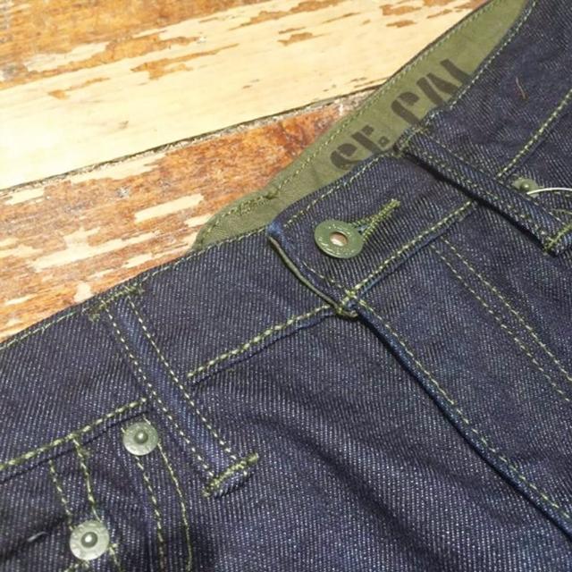 【Levis】510緊身窄管 / 二戰月桂冠扣 / 綠迷彩軍裝風 丹寧牛仔褲