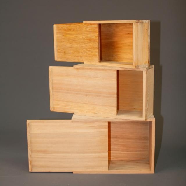 【MU LIFE 荒木雕塑藝品】千年檜木收藏木盒(中)