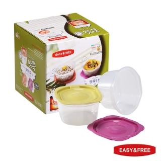 【EASY&FREE】韓國原裝進口保鮮盒–泡菜系列2盒4件組  固鋼