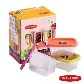 【EASY&FREE】韓國原裝進口保鮮盒–蘋果系列3盒6件組   固鋼