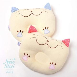 【聖哥Newstar】小貓咪造型圓凹造型枕(貓咪造型枕)
