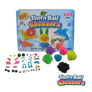 【酷博士】創意毛毛球DIY拼裝組合玩具