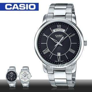 【CASIO 卡西歐】低調簡約不鏽鋼石英男錶(BEM-152D)