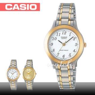 【CASIO 卡西歐】簡單素雅 小錶徑 不鏽鋼石英女錶(LTP-1128G)