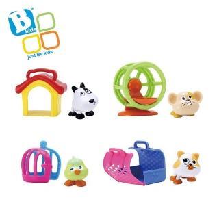 【英國  Bkids】寶寶寵物 - 黑眼豆豆的家+小鼠搖椅+小鳥與籠子+小花貓提籃
