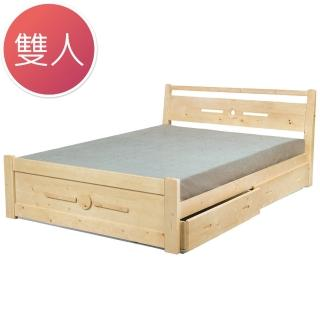 【Bernice】貝妮亞抽屜5尺雙人床(不含床墊)