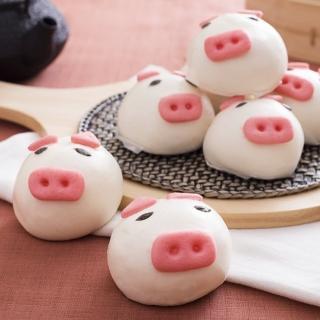 【鮮食家任選799】禎祥 小豬甜包-芋頭(60g*10粒/包)