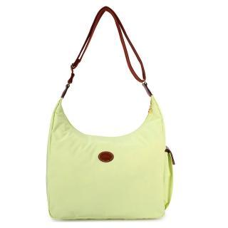 【Longchamp】經典尼龍弧形斜背包(淺綠色)