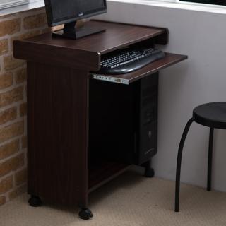 【樂活玩家】電腦桌(滑軌鍵盤收納/附輪)