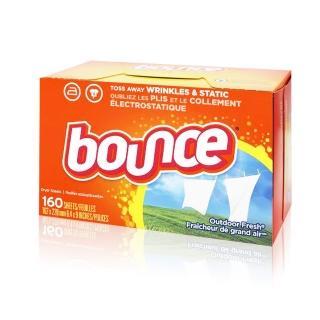 【美國進口 Bounce】烘衣柔軟片(160片)