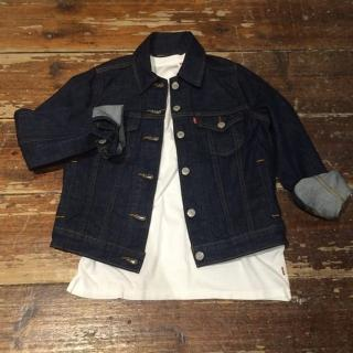 【Levis】經典短版深藍水洗牛仔外套