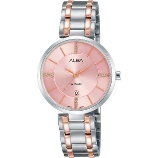 【ALBA】專屬於妳限量東京石英女錶-粉x雙色/30mm(VJ22-X236P  AH7L27X1)