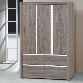 【時尚屋】夏慕浮雕4x6衣櫥5U6-109-46二色可選(衣櫥 拉門式  臥室)