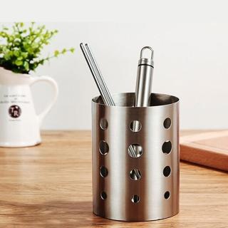 【PUSH! 餐具用品】304不銹鋼加厚筷子筒筷子籠筷子收納盒標準款(E55)