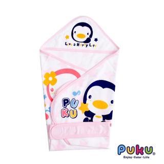 【PUKU藍色企鵝】單層包巾-春夏F(粉色)