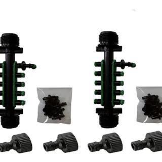 四分外牙轉兩分10孔接頭含10個綠色塞頭中段2組
