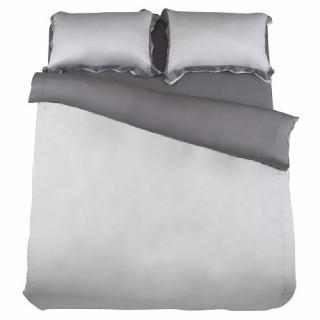 HOLA home雅緻天絲素色床包特大 霧灰色