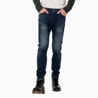 【Levis】510 緊身窄管丹寧牛仔褲-深藍低調微水洗貓鬚