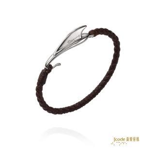 【J'code 真愛密碼】勇者銀編織繩手鍊(2016夏季新品)