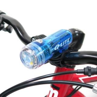 【Q-LITE】3白光LED防水多用途警示燈前燈頭燈/台灣製(透明藍)
