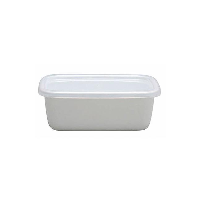 【野田琺瑯】White Series系列長型保存盒(0.85L)