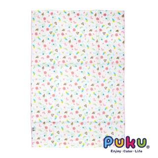 【PUKU藍色企鵝】PUKU印花紗布大浴巾-70*100cm(粉色)