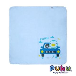 【PUKU藍色企鵝】紗布大浴巾-90*90cm(水色)
