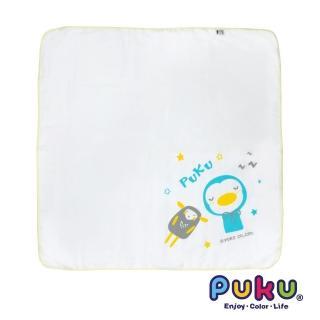 【PUKU藍色企鵝】紗布大浴巾-90*90cm(白色)