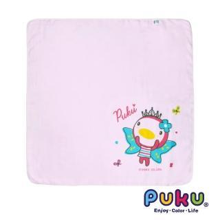 【PUKU藍色企鵝】紗布大浴巾-90*90cm(粉色)