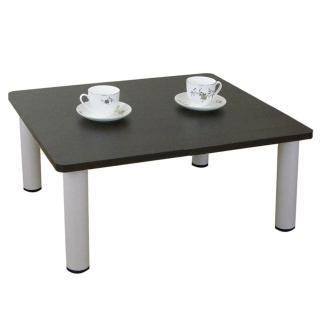 【美佳居】寬60x深60/公分-和室桌/休閒桌/矮桌-深胡桃木色(三款腳座可選)
