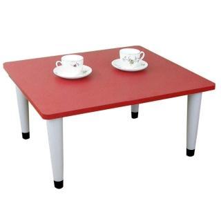 【美佳居】寬60x深60/公分-和室桌/休閒桌/矮桌-喜氣紅色(三款腳座可選)