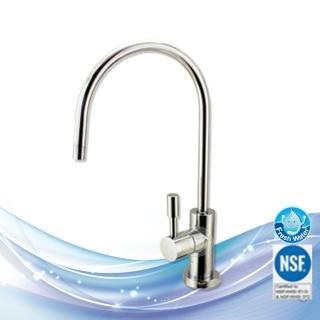 【EssenPure】NSF 無鉛美式大彎型高級出水鵝頸龍頭(龍頭上有NSF雷刻-FLR-828CP)