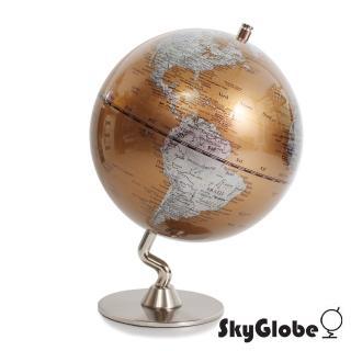 【SkyGlobe】5吋七彩金色金屬底座地球儀(英文版)