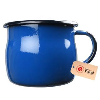 【Emalia Olkusz】琺瑯杯 350ml(寶藍)
