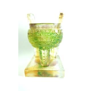 【琉璃藝術大師-黃安福】和諧(創藝工坊 琉璃藝術 和諧平安 工藝品擺件)