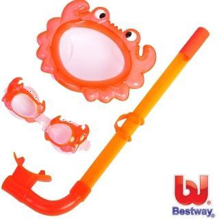 【BESTWAY】幼兒戲水超值組合(橘色螃蟹)