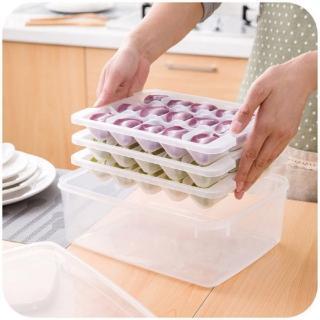 【快速出貨】冰箱保鮮收納盒凍餃子三層保鮮盒(J2138)