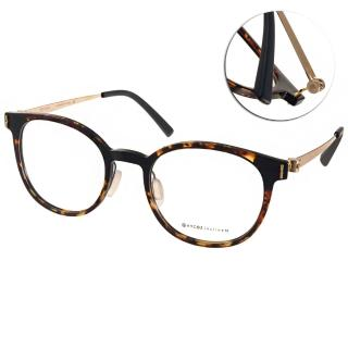 【VYCOZ 光學眼鏡】簡約百搭半圓框款(玳瑁-金#HILLY HAV-GOLD)