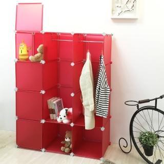 【ikloo宜酷屋】魔術空間12格衣櫥附門4片組合櫃