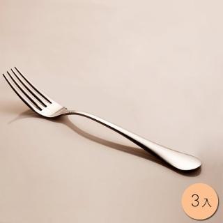 【PUSH! 餐具】不銹鋼叉子牛排叉水果沙拉叉西餐叉餐叉3入組(E34)