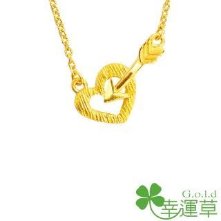 【幸運草clover gold】命中紅心 水晶+黃金 鎖骨鍊墜