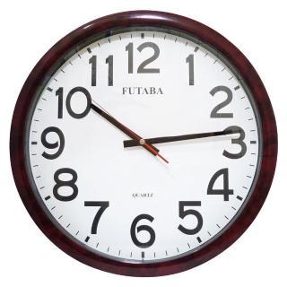 【FUTABA】高級超靜音紅大理石紋大掛鐘(355)