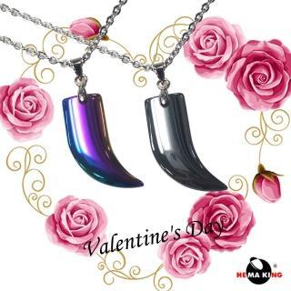 【HEMAKING】情人節禮物/造形對鍊☆靠近你☆(附銀鍊.皮繩)