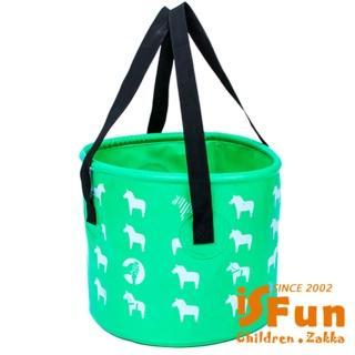 【iSPurple】露營戲水*動物大容量摺疊水桶袋/二色可選12L