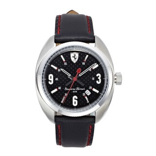 【FERRARI】Formula Sportive經典黑鋼灰面時尚腕錶(0830207)